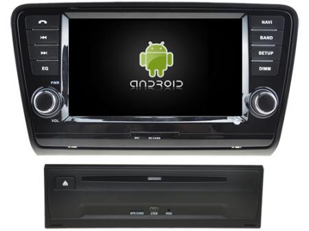 "Navigație Skoda Octavia 2013, Android 9, QUAD CORE / 2GB RAM cu DVD, 8"" Inch0"