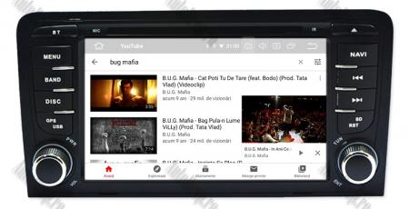 Navigatie Audi A3, Android 9, OCTACORE|PX5| / 4GB RAM cu 64GB ROM cu DVD , 7 Inch - AD-BGWAUDIA3P511