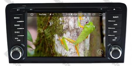 Navigatie Audi A3, Android 9, OCTACORE|PX5| / 4GB RAM cu 64GB ROM cu DVD , 7 Inch - AD-BGWAUDIA3P516