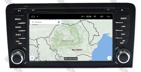 Navigatie Audi A3, Android 9, OCTACORE|PX5| / 4GB RAM cu 64GB ROM cu DVD , 7 Inch - AD-BGWAUDIA3P512