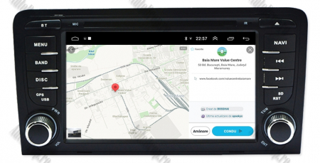 Navigatie Audi A3, Android 9, OCTACORE|PX5| / 4GB RAM cu 64GB ROM cu DVD , 7 Inch - AD-BGWAUDIA3P513