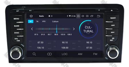 Navigatie Audi A3, Android 9, OCTACORE|PX5| / 4GB RAM cu 64GB ROM cu DVD , 7 Inch - AD-BGWAUDIA3P53