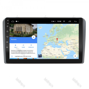 Navigatie Audi A3/ S3/ RS3, Android 9.1, QUADCORE|MTK| / 1GB RAM + 16 ROM, 9 Inch - AD-BGPAUDIA31GB6