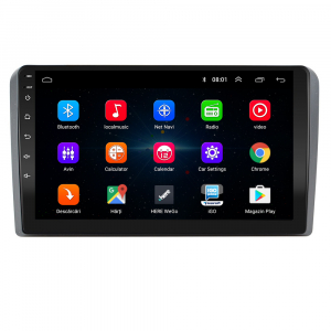 Navigatie Audi A3/ S3/ RS3, Android 9.1, QUADCORE|MTK| / 1GB RAM + 16 ROM, 9 Inch - AD-BGPAUDIA31GB1