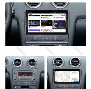 Navigatie Audi A3/ S3/ RS3, Android 9.1, QUADCORE|MTK| / 1GB RAM + 16 ROM, 9 Inch - AD-BGPAUDIA31GB14