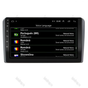Navigatie Audi A3/ S3/ RS3, Android 9.1, QUADCORE|MTK| / 1GB RAM + 16 ROM, 9 Inch - AD-BGPAUDIA31GB4
