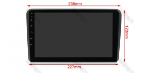 Navigatie Audi A3/ S3/ RS3, Android 9.1, QUADCORE|MTK| / 1GB RAM + 16 ROM, 9 Inch - AD-BGPAUDIA31GB13