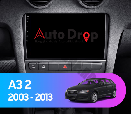 Navigatie Audi A3/ S3/ RS3, Android 9.1, QUADCORE|MTK| / 1GB RAM + 16 ROM, 9 Inch - AD-BGPAUDIA31GB16
