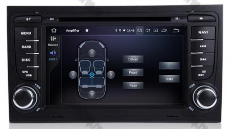 Navigatie Audi A4 (B6, B7), Android 10, Octacore|PX5| / 4GB RAM + 64GB ROM cu DVD, 7 Inch - AD-BGWAUDIA4P57