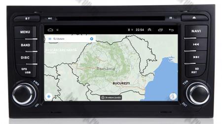 Navigatie Audi A4 (B6, B7), Android 10, Octacore|PX5| / 4GB RAM + 64GB ROM cu DVD, 7 Inch - AD-BGWAUDIA4P512