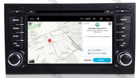 Navigatie Audi A4 (B6, B7), Android 10, Octacore|PX5| / 4GB RAM + 64GB ROM cu DVD, 7 Inch - AD-BGWAUDIA4P513