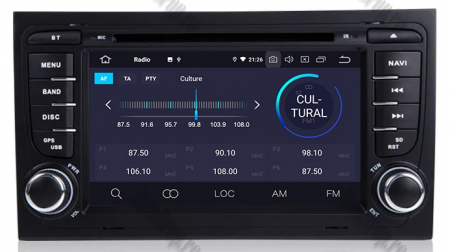 Navigatie Audi A4 (B6, B7), Android 10, Octacore|PX5| / 4GB RAM + 64GB ROM cu DVD, 7 Inch - AD-BGWAUDIA4P53