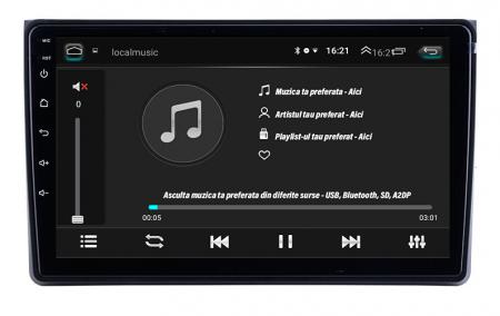 Navigatie Audi A4(B6/B7) / Seat Exeo, Android 9.1, QUADCORE|MTK| / 1GB RAM + 16 ROM, 9 Inch - AD-BGPAUDIA41GB3