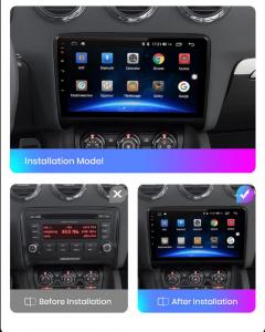 Navigatie Audi TT, Android 9.1, QUADCORE|MTK| / 1GB RAM + 16 ROM, 9 Inch - AD-BGPAUDITTMTK16
