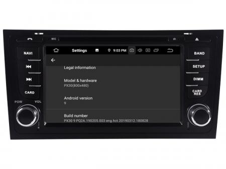 "Navigatie Audi A6, Android 9, QUADCORE / 2GB RAM cu DVD, 6.2"" Inch - AD-BGWAUDIA67P33"