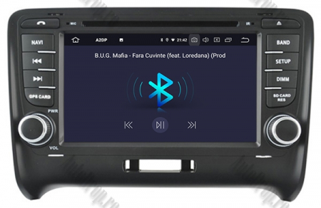 NAVIGATIE AUDI TT (2006-2012), ANDROID 9, Quadcore|PX30| / 2GB RAM + 16GB ROM CU DVD, 7 INCH - AD-BGWAUDITTP36