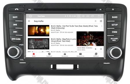 NAVIGATIE AUDI TT (2006-2012), ANDROID 9, Quadcore|PX30| / 2GB RAM + 16GB ROM CU DVD, 7 INCH - AD-BGWAUDITTP313