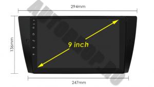 Navigatie BMW Seria 3 E90, E91, E92, QUADCORE|MTK| / 1GB RAM + 16 ROM, 9 Inch - AD-BGPE9X9MTK17