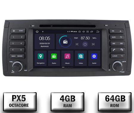 Navigatie BMW E39/E53, Android 10, Octacore|PX5|/ 4GB RAM + 64GB ROM, 7 Inch - AD-BGWBMWE397P50