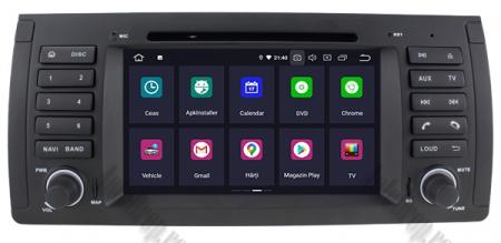 Navigatie BMW E39/E53, Android 10, Octacore|PX5|/ 4GB RAM + 64GB ROM, 7 Inch - AD-BGWBMWE397P51