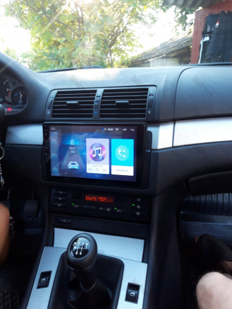 Navigatie BMW E46, Android 9.1, QUADCORE|MTK| / 1GB RAM + 16 ROM, 9 Inch -AD-BGPBMWE469L18