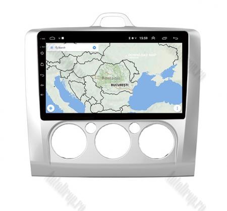 Navigatie Ford Focus MK2 2004-2011 Clima Manuala, Android 9.1, QUADCORE|MTK| / 1GB RAM + 16 ROM, 9 Inch - AD-BGPFORDFMAC1GB8