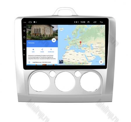 Navigatie Ford Focus MK2 2004-2011 Clima Manuala, Android 9.1, QUADCORE|MTK| / 1GB RAM + 16 ROM, 9 Inch - AD-BGPFORDFMAC1GB7