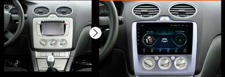 Navigatie Ford Focus MK2 2004-2011 Clima Manuala, Android 9.1, QUADCORE|MTK| / 1GB RAM + 16 ROM, 9 Inch - AD-BGPFORDFMAC1GB12