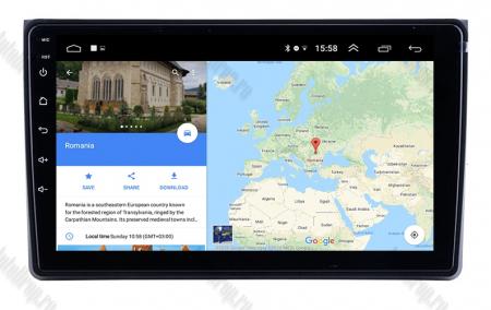 Navigatie Audi A4(B6/B7) / Seat Exeo, Android 8.1, QUADCORE|MTK| / 1GB RAM + 16 ROM, 9 Inch - AD-BGPAUDIA41GB10