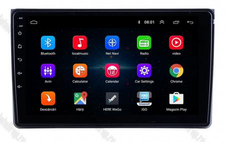 Navigatie Audi A4(B6/B7) / Seat Exeo, Android 8.1, QUADCORE|MTK| / 1GB RAM + 16 ROM, 9 Inch - AD-BGPAUDIA41GB1