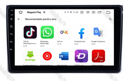 Navigatie Audi A4(B6/B7) / Seat Exeo, Android 8.1, QUADCORE|MTK| / 1GB RAM + 16 ROM, 9 Inch - AD-BGPAUDIA41GB9