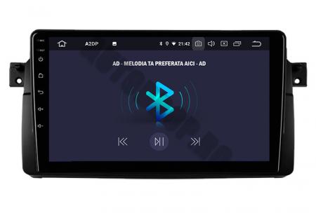 Navigatie BMW E46/M3, Android 10, QUADCORE PX30 / 2GB RAM + 16GB ROM, 9 Inch - AD-BGWBMWE469P38