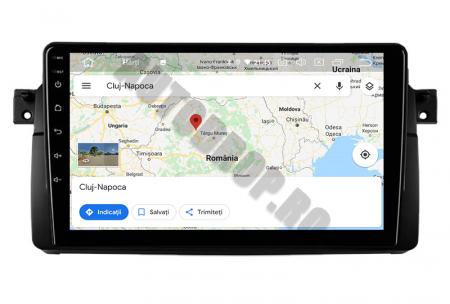Navigatie BMW E46/M3, Android 10, QUADCORE PX30 / 2GB RAM + 16GB ROM, 9 Inch - AD-BGWBMWE469P311