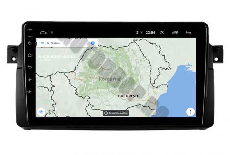 Navigatie BMW E46/M3, Android 10, QUADCORE PX30 / 2GB RAM + 16GB ROM, 9 Inch - AD-BGWBMWE469P312