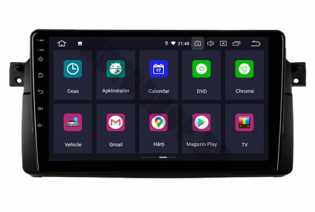 Navigatie BMW E46/M3, Android 10, QUADCORE PX30 / 2GB RAM + 16GB ROM, 9 Inch - AD-BGWBMWE469P32