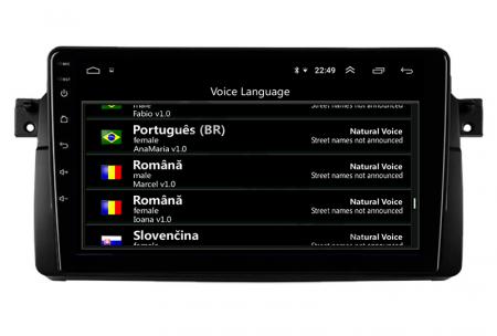 Navigatie BMW E46/M3, Android 10, QUADCORE PX30 / 2GB RAM + 16GB ROM, 9 Inch - AD-BGWBMWE469P37