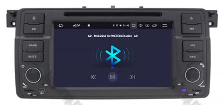 Navigatie BMW E46/M3, Android 10, Quadcore|PX30|/ 2GB RAM + 16GB ROM cu DVD, 7 Inch - AD-BGWBMWE467P35