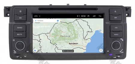 Navigatie BMW E46/M3, Android 10, Octacore|PX5| / 4GB RAM + 64GB ROM cu DVD, 7 Inch - AD-BGWBMWE467P512