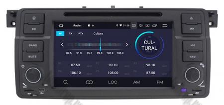 Navigatie BMW E46/M3, Android 10, Quadcore|PX30|/ 2GB RAM + 16GB ROM cu DVD, 7 Inch - AD-BGWBMWE467P33