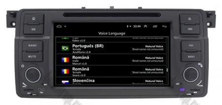 Navigatie BMW E46/M3, Android 10, Quadcore|PX30|/ 2GB RAM + 16GB ROM cu DVD, 7 Inch - AD-BGWBMWE467P39