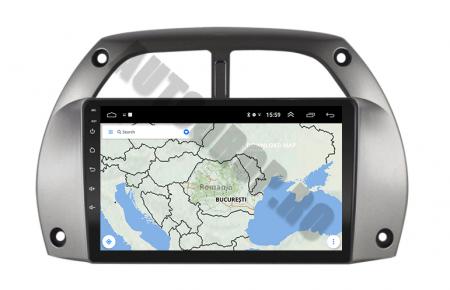 Navigatie Toyota RAV4 (2001-2006), QUADCORE|MTK| / 1GB RAM + 16GB ROM, 9 Inch - AD-BGPORAV4MTK11