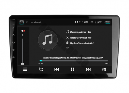 Navigatie Peugeot 307 (2001-2008), QUADCORE|MTK| / 2GB RAM + 32GB ROM, 9 Inch - AD-BGP307MTK2GB9