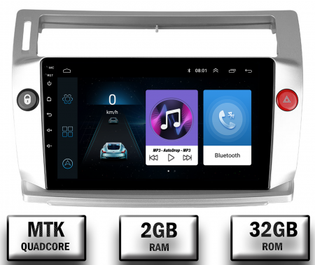 Navigatie Citroen C4 (2004-2014), Android 9.1, QUADCORE|MTK| / 2GB RAM + 32GB ROM, 9 Inch - AD-BGPC4MTK - Copie0