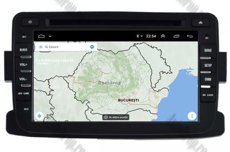 NAVIGATIE Dacia/Renault, ANDROID 10, Quadcore|PX30|/ 2GB RAM + 16GB ROM cu DVD, 7 Inch - AD-BGWDACIA7P311