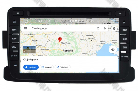 NAVIGATIE Dacia/Renault, ANDROID 10, Quadcore|PX30|/ 2GB RAM + 16GB ROM cu DVD, 7 Inch - AD-BGWDACIA7P312