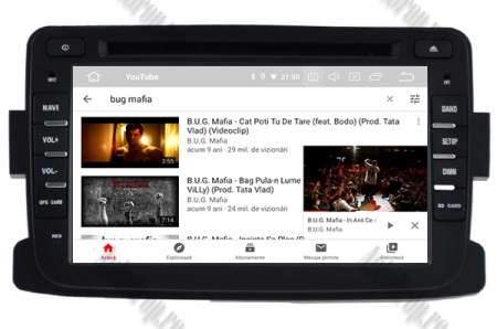 NAVIGATIE Dacia/Renault, ANDROID 10, Quadcore|PX30|/ 2GB RAM + 16GB ROM cu DVD, 7 Inch - AD-BGWDACIA7P39