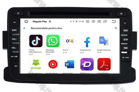 NAVIGATIE Dacia/Renault, ANDROID 10, Quadcore|PX30|/ 2GB RAM + 16GB ROM cu DVD, 7 Inch - AD-BGWDACIA7P38