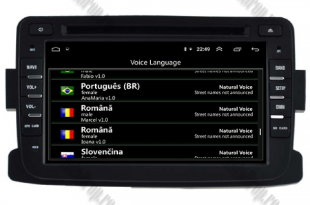NAVIGATIE Dacia/Renault, ANDROID 10, Quadcore|PX30|/ 2GB RAM + 16GB ROM cu DVD, 7 Inch - AD-BGWDACIA7P37