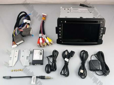NAVIGATIE Dacia/Renault, ANDROID 10, Quadcore|PX30|/ 2GB RAM + 16GB ROM cu DVD, 7 Inch - AD-BGWDACIA7P314