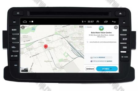 NAVIGATIE Dacia/Renault, ANDROID 10, Quadcore|PX30|/ 2GB RAM + 16GB ROM cu DVD, 7 Inch - AD-BGWDACIA7P313